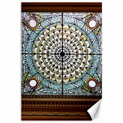 Stained Glass Window Library Of Congress Canvas 12  X 18   by Nexatart