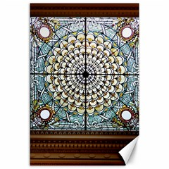 Stained Glass Window Library Of Congress Canvas 24  X 36  by Nexatart