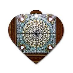 Stained Glass Window Library Of Congress Dog Tag Heart (two Sides) by Nexatart
