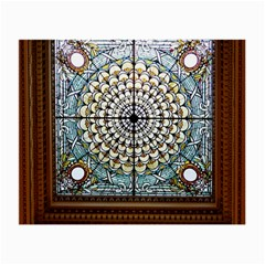 Stained Glass Window Library Of Congress Small Glasses Cloth (2 Side) by Nexatart