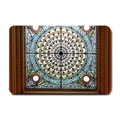 Stained Glass Window Library Of Congress Small Doormat  by Nexatart