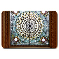 Stained Glass Window Library Of Congress Large Doormat  by Nexatart