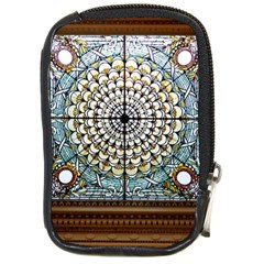Stained Glass Window Library Of Congress Compact Camera Cases by Nexatart
