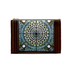 Stained Glass Window Library Of Congress Cosmetic Bag (medium)  by Nexatart