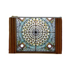 Stained Glass Window Library Of Congress Cosmetic Bag (large)  by Nexatart
