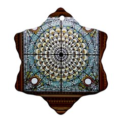 Stained Glass Window Library Of Congress Ornament (snowflake) by Nexatart