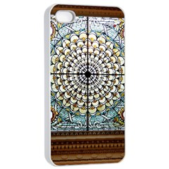 Stained Glass Window Library Of Congress Apple Iphone 4/4s Seamless Case (white) by Nexatart