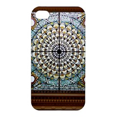 Stained Glass Window Library Of Congress Apple Iphone 4/4s Premium Hardshell Case by Nexatart
