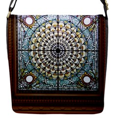 Stained Glass Window Library Of Congress Flap Messenger Bag (s) by Nexatart