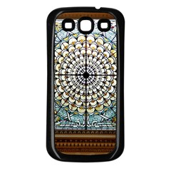 Stained Glass Window Library Of Congress Samsung Galaxy S3 Back Case (black) by Nexatart