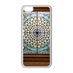 Stained Glass Window Library Of Congress Apple Iphone 5c Seamless Case (white) by Nexatart