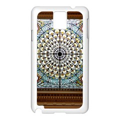 Stained Glass Window Library Of Congress Samsung Galaxy Note 3 N9005 Case (white)