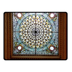 Stained Glass Window Library Of Congress Double Sided Fleece Blanket (small)  by Nexatart