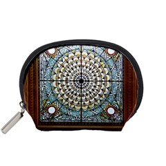Stained Glass Window Library Of Congress Accessory Pouches (small)  by Nexatart