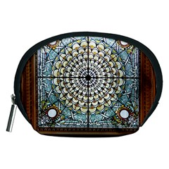 Stained Glass Window Library Of Congress Accessory Pouches (medium)  by Nexatart