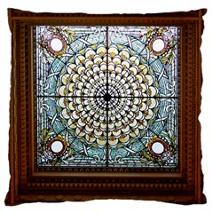 Stained Glass Window Library Of Congress Standard Flano Cushion Case (two Sides) by Nexatart