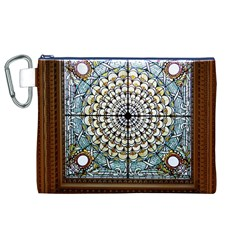 Stained Glass Window Library Of Congress Canvas Cosmetic Bag (xl) by Nexatart