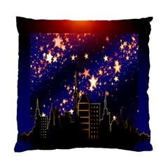 Star Advent Christmas Eve Christmas Standard Cushion Case (one Side) by Nexatart