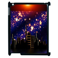 Star Advent Christmas Eve Christmas Apple Ipad 2 Case (black) by Nexatart