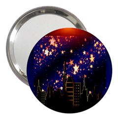 Star Advent Christmas Eve Christmas 3  Handbag Mirrors