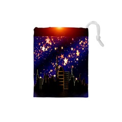 Star Advent Christmas Eve Christmas Drawstring Pouches (small)