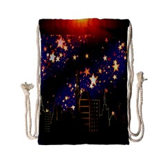 Star Advent Christmas Eve Christmas Drawstring Bag (small) by Nexatart
