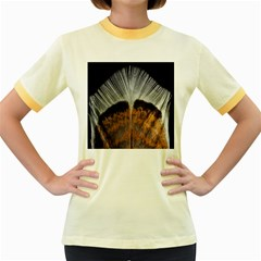 Spring Bird Feather Turkey Feather Women s Fitted Ringer T Shirts