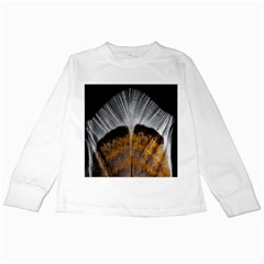 Spring Bird Feather Turkey Feather Kids Long Sleeve T Shirts