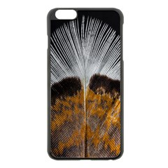 Spring Bird Feather Turkey Feather Apple Iphone 6 Plus/6s Plus Black Enamel Case