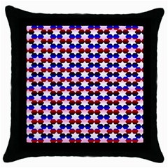 Star Pattern Throw Pillow Case (black)
