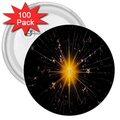 Star Christmas Advent Decoration 3  Buttons (100 Pack)