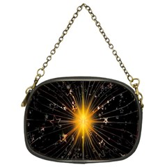 Star Christmas Advent Decoration Chain Purses (one Side)  by Nexatart
