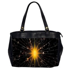 Star Christmas Advent Decoration Office Handbags (2 Sides)  by Nexatart