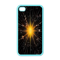Star Christmas Advent Decoration Apple Iphone 4 Case (color)