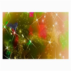 Star Christmas Background Image Red Large Glasses Cloth (2 Side)