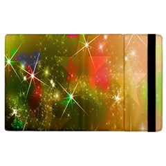 Star Christmas Background Image Red Apple Ipad 2 Flip Case