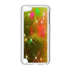 Star Christmas Background Image Red Apple Ipod Touch 5 Case (white) by Nexatart