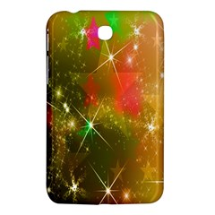 Star Christmas Background Image Red Samsung Galaxy Tab 3 (7 ) P3200 Hardshell Case  by Nexatart