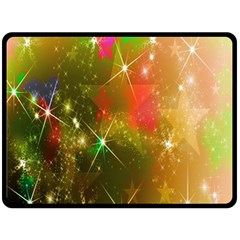 Star Christmas Background Image Red Double Sided Fleece Blanket (large)  by Nexatart