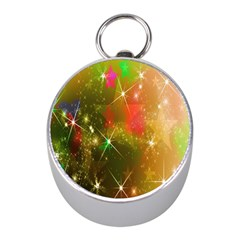 Star Christmas Background Image Red Mini Silver Compasses by Nexatart