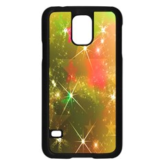 Star Christmas Background Image Red Samsung Galaxy S5 Case (black)