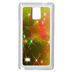 Star Christmas Background Image Red Samsung Galaxy Note 4 Case (white) by Nexatart