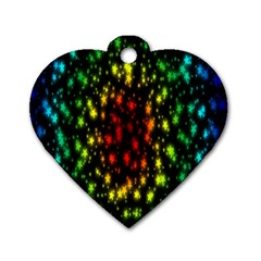 Star Christmas Curtain Abstract Dog Tag Heart (one Side) by Nexatart