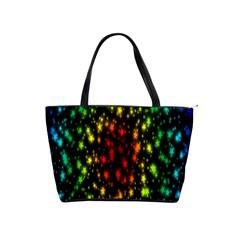 Star Christmas Curtain Abstract Shoulder Handbags