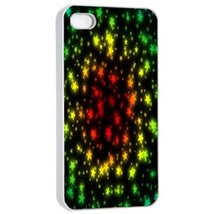 Star Christmas Curtain Abstract Apple Iphone 4/4s Seamless Case (white)