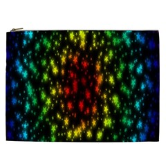 Star Christmas Curtain Abstract Cosmetic Bag (xxl)  by Nexatart