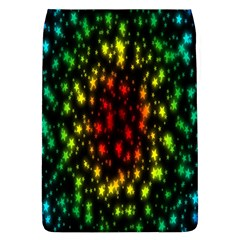 Star Christmas Curtain Abstract Flap Covers (l)  by Nexatart