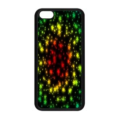 Star Christmas Curtain Abstract Apple Iphone 5c Seamless Case (black)
