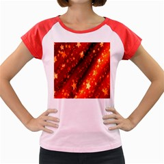 Star Christmas Pattern Texture Women s Cap Sleeve T Shirt