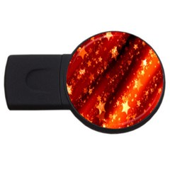Star Christmas Pattern Texture USB Flash Drive Round (1 GB) by Nexatart